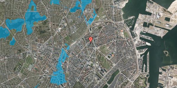 Oversvømmelsesrisiko fra vandløb på Haraldsgade 70, 2100 København Ø