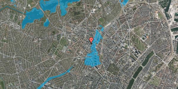 Oversvømmelsesrisiko fra vandløb på Vibevej 7A, 2. tv, 2400 København NV
