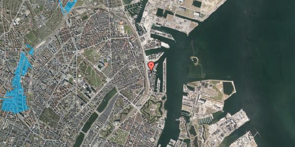 Oversvømmelsesrisiko fra vandløb på Kalkbrænderihavnsgade 4D, 3. th, 2100 København Ø