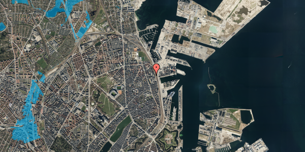 Oversvømmelsesrisiko fra vandløb på Hjørringgade 37, 9. th, 2100 København Ø