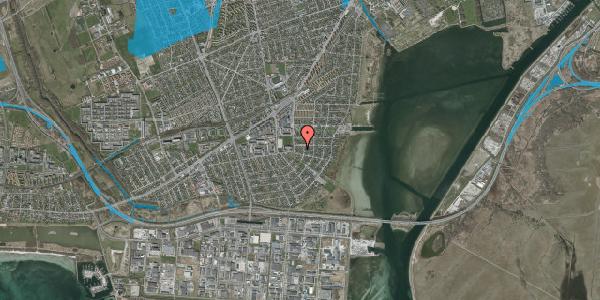 Oversvømmelsesrisiko fra vandløb på Langhøjvej 4B, 2650 Hvidovre