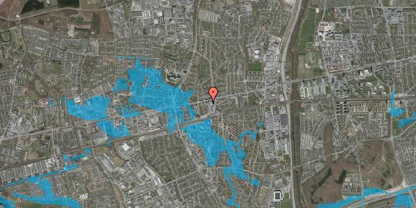 Oversvømmelsesrisiko fra vandløb på Jernbanevej 1, 2600 Glostrup
