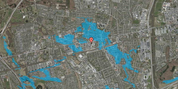Oversvømmelsesrisiko fra vandløb på Hermods Allé 5, 2600 Glostrup