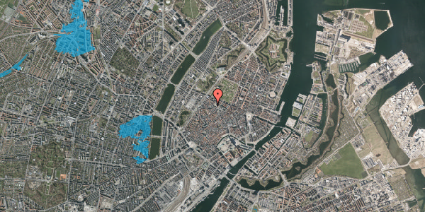 Oversvømmelsesrisiko fra vandløb på Hauser Plads 1, 2. , 1127 København K