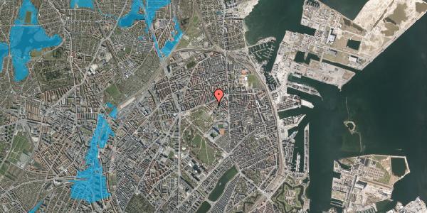 Oversvømmelsesrisiko fra vandløb på Ove Rodes Plads 2, 2100 København Ø