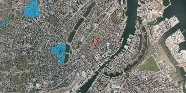 Oversvømmelsesrisiko fra vandløb på Gråbrødretorv 8, 1154 København K
