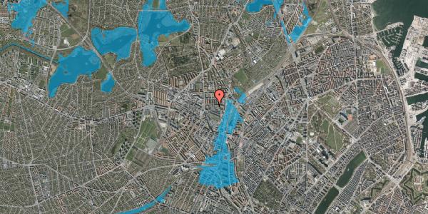 Oversvømmelsesrisiko fra vandløb på Bygmestervej 1B, 1. th, 2400 København NV