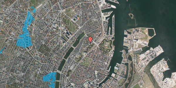 Oversvømmelsesrisiko fra vandløb på Hjalmar Brantings Plads 9, 2100 København Ø