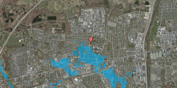 Oversvømmelsesrisiko fra vandløb på Haveforeningen Hersted 16, 2600 Glostrup