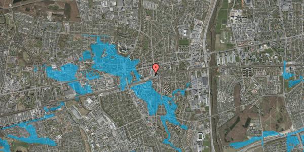 Oversvømmelsesrisiko fra vandløb på Glostrup Shoppingcenter 90, 2600 Glostrup