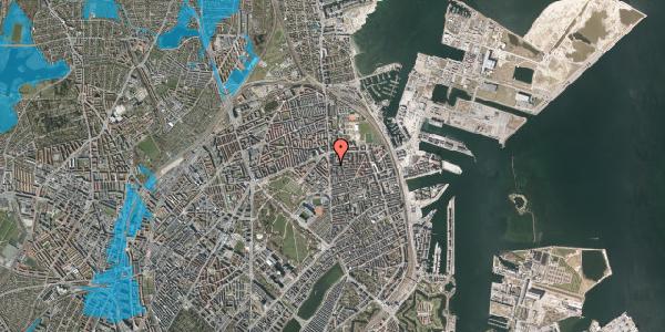 Oversvømmelsesrisiko fra vandløb på Vordingborggade 4, kl. , 2100 København Ø