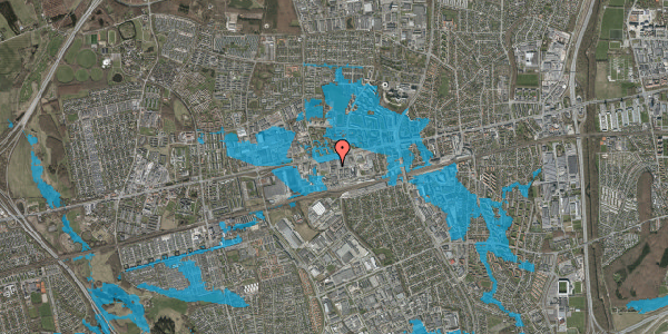 Oversvømmelsesrisiko fra vandløb på Odinsvej 11, 2600 Glostrup