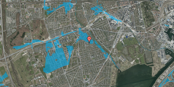 Oversvømmelsesrisiko fra vandløb på Karise Alle 31, st. 68, 2650 Hvidovre