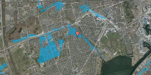 Oversvømmelsesrisiko fra vandløb på Karise Alle 31, st. 57, 2650 Hvidovre