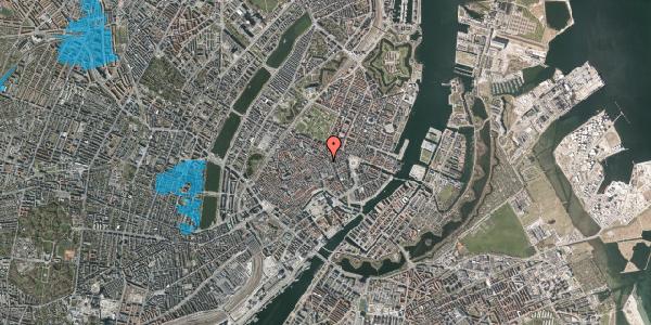 Oversvømmelsesrisiko fra vandløb på Pilestræde 32B, 1112 København K