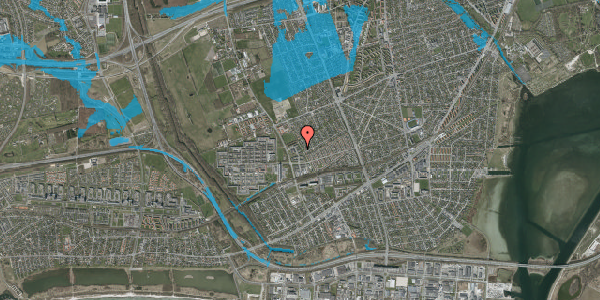 Oversvømmelsesrisiko fra vandløb på Mellemvangsvej 72, 2650 Hvidovre