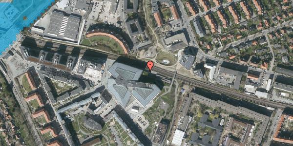 Oversvømmelsesrisiko fra vandløb på Osvald Helmuths Vej 14, 2000 Frederiksberg