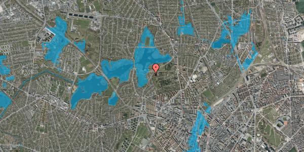 Oversvømmelsesrisiko fra vandløb på Rådvadsvej 56, 2400 København NV