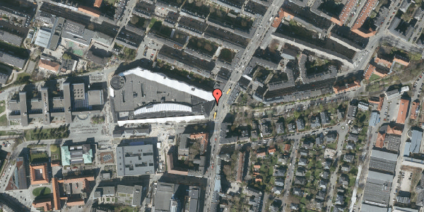 Oversvømmelsesrisiko fra vandløb på Falkoner Alle 21, 2. 2100, 2000 Frederiksberg