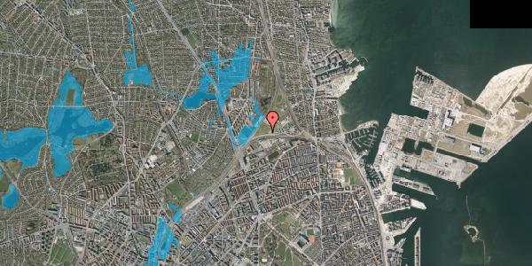 Oversvømmelsesrisiko fra vandløb på Svanemøllens Kaserne 101, 2100 København Ø