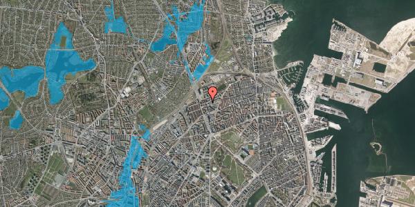 Oversvømmelsesrisiko fra vandløb på Venøgade 4, st. , 2100 København Ø