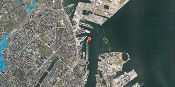 Oversvømmelsesrisiko fra vandløb på Langelinie Allé 47A, 2100 København Ø