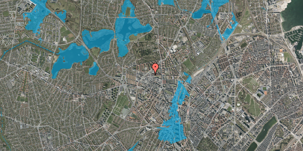 Oversvømmelsesrisiko fra vandløb på Birkedommervej 29, st. , 2400 København NV
