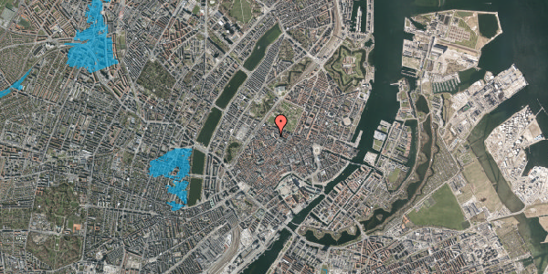 Oversvømmelsesrisiko fra vandløb på Suhmsgade 4, kl. th, 1125 København K