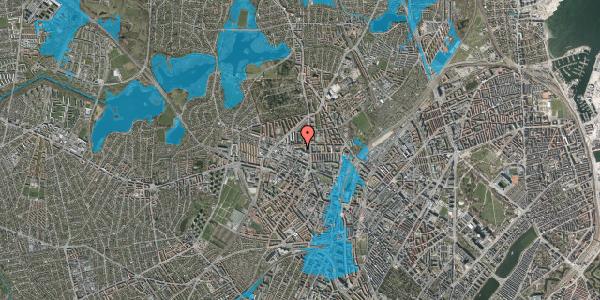 Oversvømmelsesrisiko fra vandløb på Dortheavej 2D, 3. th, 2400 København NV