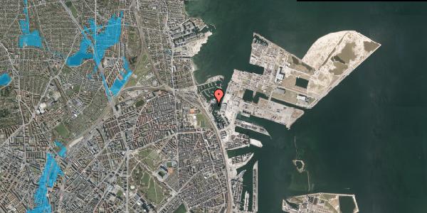 Oversvømmelsesrisiko fra vandløb på Lautrupskaj 5, 2100 København Ø
