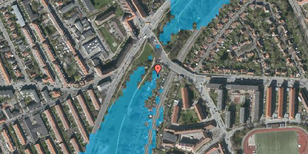 Oversvømmelsesrisiko fra vandløb på Hf. Grænsen 2, 2000 Frederiksberg