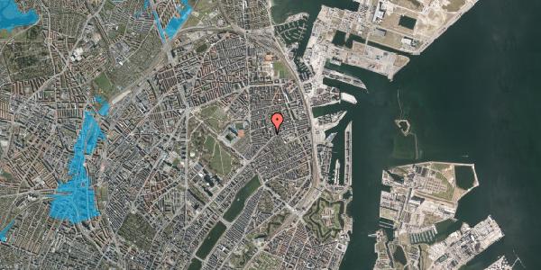 Oversvømmelsesrisiko fra vandløb på Randersgade 10B, 2100 København Ø