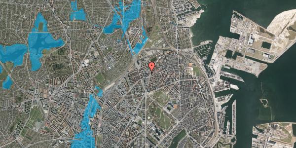 Oversvømmelsesrisiko fra vandløb på Æbeløgade 4, 2. , 2100 København Ø