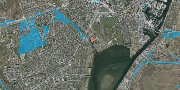 Oversvømmelsesrisiko fra vandløb på Engstykkevej 18, 2650 Hvidovre