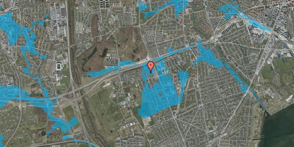 Oversvømmelsesrisiko fra vandløb på Hf. Kettehøj 10, 2650 Hvidovre