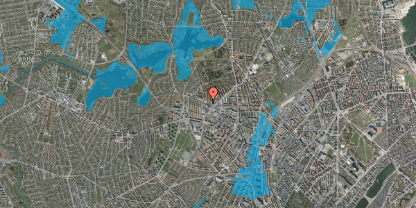 Oversvømmelsesrisiko fra vandløb på Dortheavej 36B, 2400 København NV