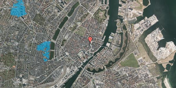 Oversvømmelsesrisiko fra vandløb på Østergade 13A, 1. , 1100 København K