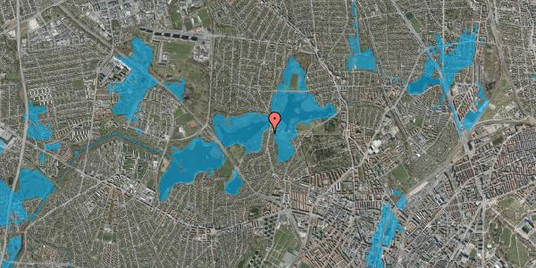 Oversvømmelsesrisiko fra vandløb på Horsebakken 61A, 2400 København NV