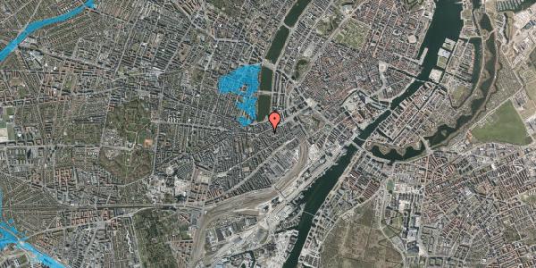 Oversvømmelsesrisiko fra vandløb på Vesterbrogade 35A, 4. th, 1620 København V