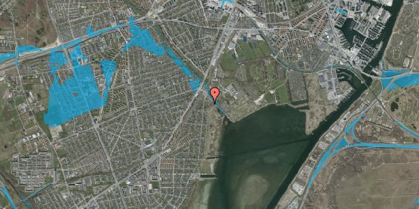 Oversvømmelsesrisiko fra vandløb på Nordre Kystagervej 3, 2650 Hvidovre