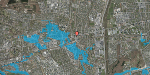Oversvømmelsesrisiko fra vandløb på Glostrup Shoppingcenter 22, st. , 2600 Glostrup