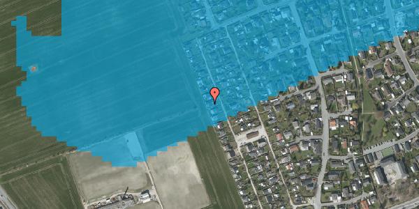 Oversvømmelsesrisiko fra vandløb på Hf. Dahlia 72, 2650 Hvidovre