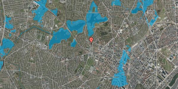 Oversvømmelsesrisiko fra vandløb på Efterslægtsvej 2A, 2400 København NV