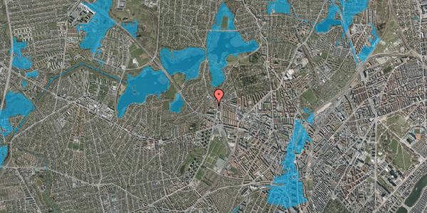 Oversvømmelsesrisiko fra vandløb på Efterslægtsvej 2B, 2400 København NV