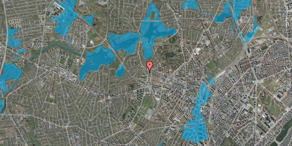 Oversvømmelsesrisiko fra vandløb på Efterslægtsvej 4A, 2400 København NV