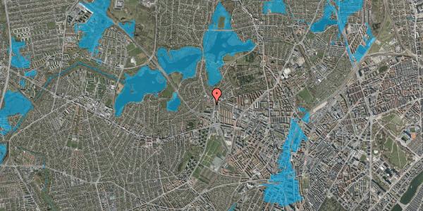 Oversvømmelsesrisiko fra vandløb på Efterslægtsvej 4B, 2400 København NV