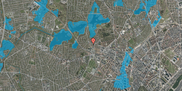 Oversvømmelsesrisiko fra vandløb på Efterslægtsvej 6D, 2400 København NV