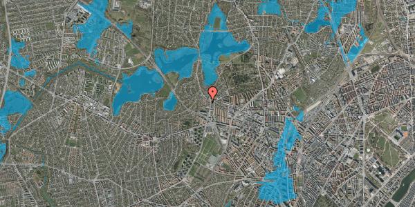 Oversvømmelsesrisiko fra vandløb på Efterslægtsvej 8A, 2400 København NV