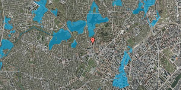 Oversvømmelsesrisiko fra vandløb på Efterslægtsvej 8C, 2400 København NV