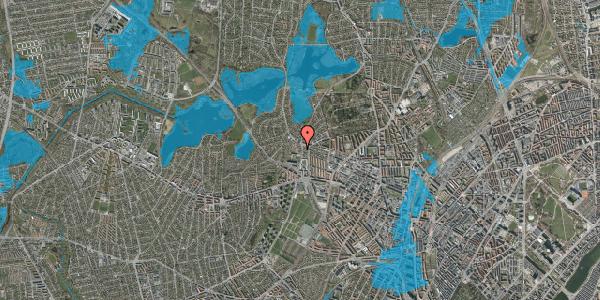Oversvømmelsesrisiko fra vandløb på Efterslægtsvej 10A, 2400 København NV